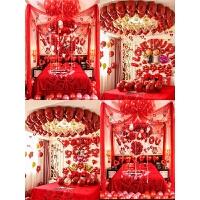 婚房装饰浪漫创意婚房布置套装卧室结婚气球装饰拉花结婚用品大全