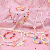 儿童串珠手链项链穿珠子女孩手工diy制作材料包宝宝益智链珠玩具