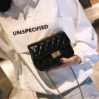 2018新款时尚迷你女包小香风菱格链条包ins超火单肩斜挎包包