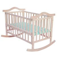 婴儿摇床 全实木环保全实木无油漆婴儿床大摇摆老式摇窝设计 棕垫+