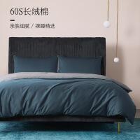 60支贡缎长绒棉四件套全棉纯棉网红款床单被套欧式床上用品