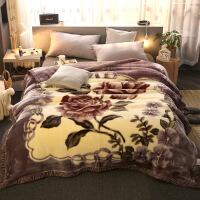 珊瑚绒毛毯冬季加厚拉舍尔毯子薄款小被子办公室午睡盖毯