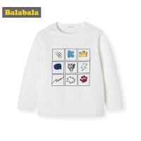 巴拉巴拉男童T恤长袖秋冬2019新款童装小童宝宝打底衫上衣体恤潮
