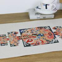 【包邮】 无则艺【NothingButArt】原创创意油画艺术衍生品文创图腾绘画棉麻桌旗