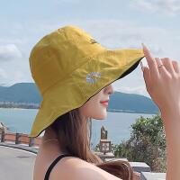 Makino/犸凯奴 新款渔夫帽百搭网红女款防晒遮阳帽大帽檐小雏菊太阳帽