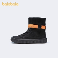 【8.4抢购价:79.9】巴拉巴拉官方童鞋男童小白鞋新款板鞋小童鞋高帮袜靴潮酷冬季