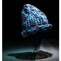 男女帽 保暖帽 毛钱帽 MB-44 彩色粗线针织帽毛线帽
