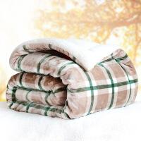 商场同款仿羊羔绒毛毯被子加厚保暖双层冬季法兰绒双面珊瑚绒毯三层毛绒毯