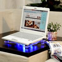 14寸笔记本电脑通用散热器水晶透明散热器座