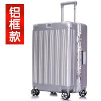 铝框行李箱万向轮旅行箱网红20寸女拉杆箱男潮韩版密码皮箱28个性