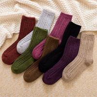 女士加厚加绒保暖袜子 新款女士羊绒毛绒袜 韩版潮袜女中筒长袜羊毛袜子