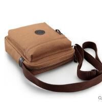 中学生背包书包 帆布男士单肩包 韩版背包 竖款 休闲小包 斜挎包