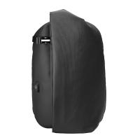 新款男士双肩背包2018新款韩版时尚潮流大学生书包15.6寸电脑包旅行包 典雅黑