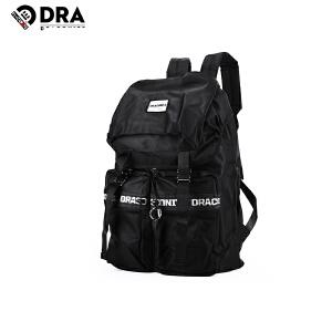DRACONITE欧美双肩包潮流反光拉链包男女书包旅游大容量背包