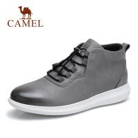 camel骆驼男鞋 秋季新品高帮韩版青年休闲真皮皮鞋运动风轻盈靴子