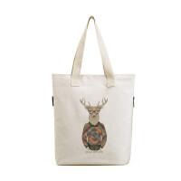 日韩文艺帆布包女单肩包简约森系学生环保袋韩国女包夏手提购物袋