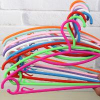 彩虹衣架30支装塑料衣架糖果色加厚塑料彩虹晾晒衣架防滑衣服架晾衣架衣挂衣撑阳台晾衣撑 颜色随机