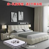 北欧布艺床简约现代双人床小户型储物主卧1.8米可拆洗婚床