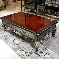 欧式茶几 现代简约实木茶几套装沙发茶几色钢琴烤漆客厅家具 整装