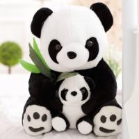 公仔毛绒玩具 可爱母子熊猫布娃娃玩偶 儿童生日礼物女生