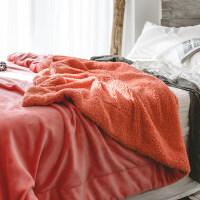 君别商场被子冬天单人小毛毯办公室午睡毯午休法兰绒珊瑚绒盖毯子空调冬季加厚