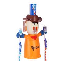 挤牙膏器 情侣家居牙刷挂架 牙刷架洗漱三口之家洗漱套装杯创意卫生间情侣刷牙漱口杯四口牙膏牙