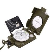户外装备指北针 驴友徒步防水夜光多功能指南针 军地质罗盘仪测距比例尺