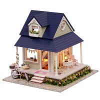 小女孩玩具公主小屋家家木质DIY女童娃娃房子过生日礼物
