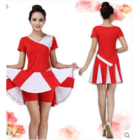 小清新活动节日表演服装短袖 广场舞服装套装新款运动休闲舞蹈服