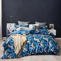lovo家纺 凉棚之下系列全棉四件套 纯棉床单被套件