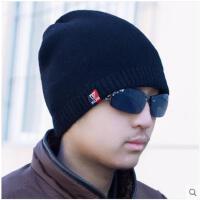 帽子男青年潮韩国针织帽保暖防寒加绒韩版秋冬季红色毛线帽时尚