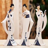 创意摆件家居饰品日式人物工艺品摆件客厅桌面新房家装摆设礼物