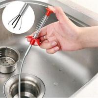 带抓手管道疏通器钢丝弹簧头发钩子通下水道工具水管清洁器抓取器 抓手疏通器【1个装】