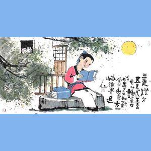 国内文与画俱佳的艺术家中国北方书画研究会常务理事国家一级美术师刘子玉(三更灯火又一更)