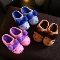 【秒杀】宝宝棉拖鞋1-3岁冬季室内防滑儿童拖鞋男女童毛毛鞋小孩包跟棉鞋