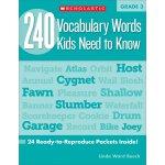 【现货】英文原版 三年级孩子需要知道的240个单词 8岁适用 240 Vocabulary Words Kids Ne