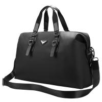 新款商务男士手提旅行包大容量长短途出差旅游行李袋多功能单肩斜挎包 典雅黑 大