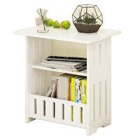 小边几现代简约客厅小桌子时尚迷你角几现代长方形创意木塑茶几 小号白色