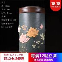 茶饼罐 新品宜兴紫砂罐原矿紫泥普洱茶饼罐 散茶罐 大号密封防潮储存茶缸