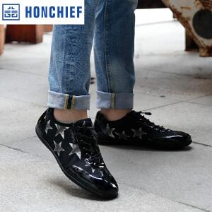 HONCHIEF 红蜻蜓旗下 春秋新款时尚男单鞋男士休闲鞋舒适驾车男鞋