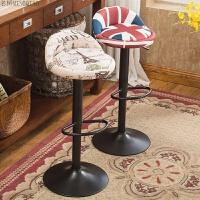 欧式复古理发椅子升降旋转发廊椅美发店剪发椅凳子复古椅凳