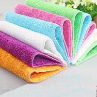 10片装不沾油洗碗巾掉毛洗碗布百洁布不沾油抹布 花色随机