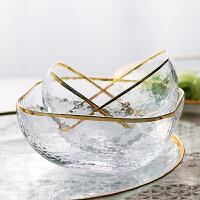 光一光一网红餐具碗创意家用玻璃可爱日式北欧少女心盘子水果沙拉套装汤碗
