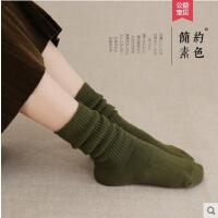 袜子女网红时尚潮流加厚保暖纯棉中筒袜女韩版学院风堆堆袜女韩国长袜子潮户外新品