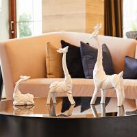 电视柜摆件酒柜装饰品一家三口 创意家居客厅玄关简约现代工艺术品