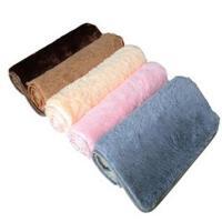 普润 丝毛加厚地毯客厅地毯沙发茶几地毯卧室床边毯满铺地毯榻榻米地垫40*60cm灰色