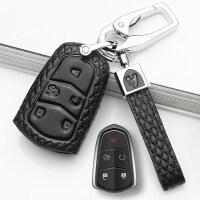 新款凯迪拉克钥匙包XT5 CT6 SRX XTS CTS ATSL真皮钥匙套包扣壳男女士