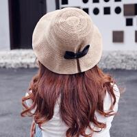 渔夫帽女韩国休闲潮百搭防晒遮阳帽出游大沿沙滩帽太阳帽