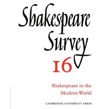 Shakespeare Survey [ISBN: 978-0521523523] 美国发货无法退货,约五到八周到货