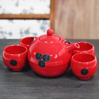 普润 中式茶具带提梁柄茶壶 茶具套装煮茶泡茶壶 五件套小茶壶功夫泡茶壶茶具套装
